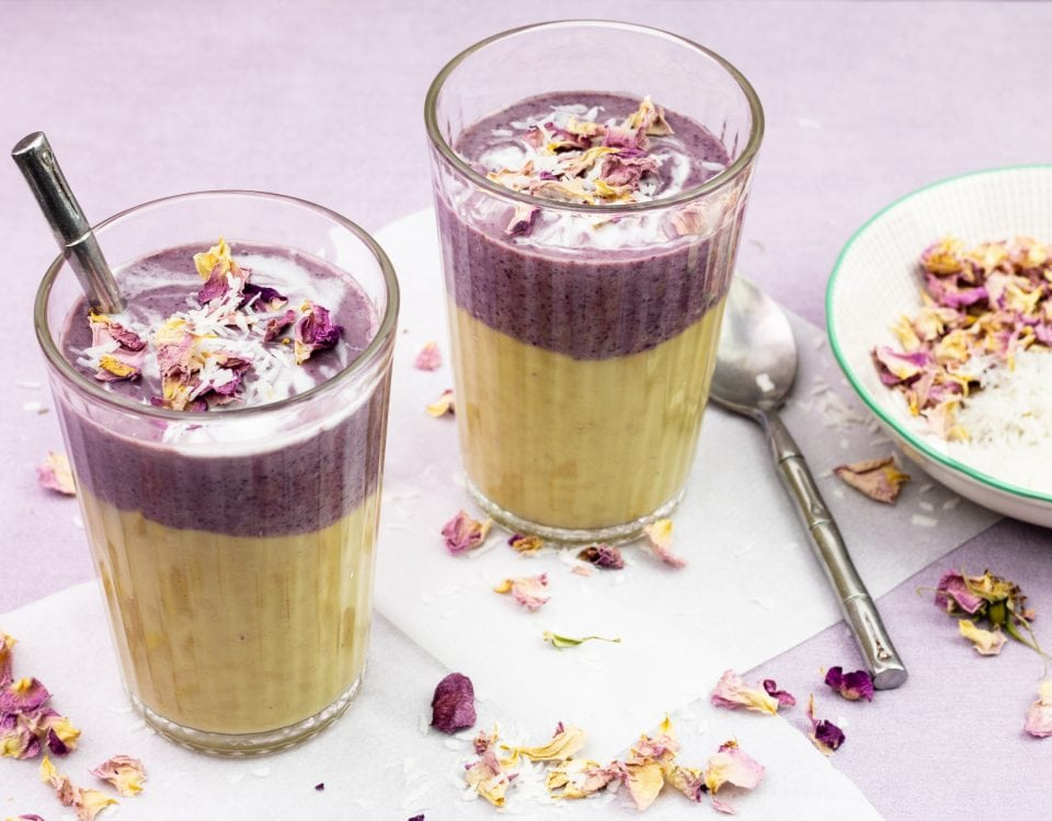 smoothie à la patate douce et myrtille